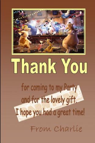 Personalised Barnyard Thank You Cards